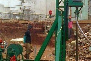 proses bore pile mesin